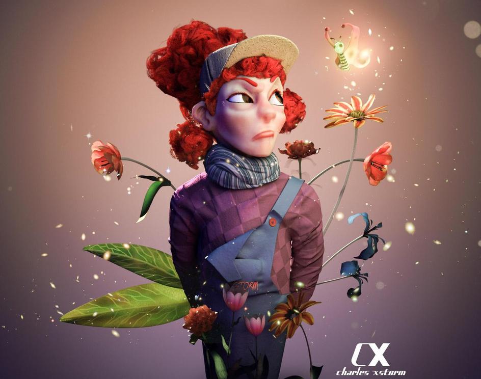 Flower girlby charles ukadike