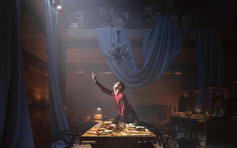 man dining hall purgatory