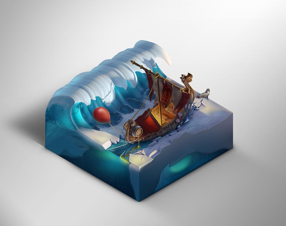 Viking Boat - Off course we are!by Marko Stanojevic