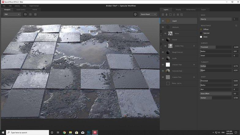 quixel mixer floor materials
