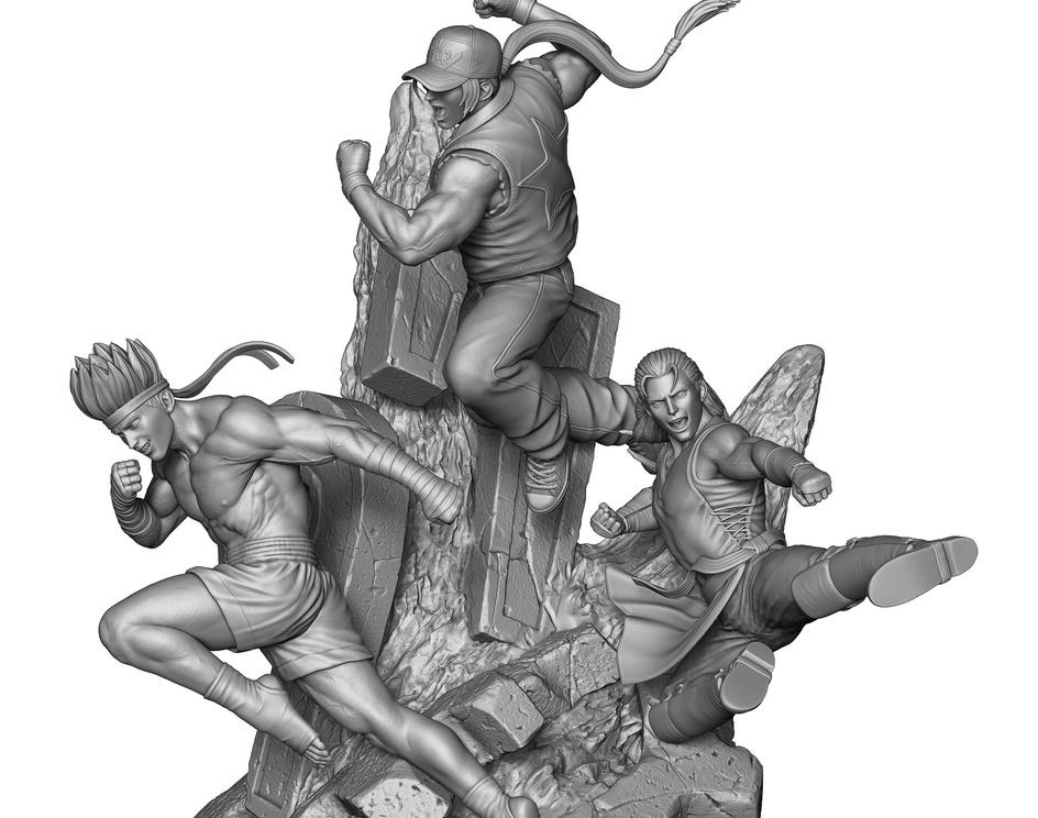 KOF 97 Statueby Rafael Mustaine