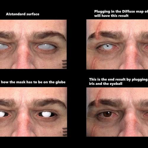Cyberpunk 2077 3d male fanart eye shading