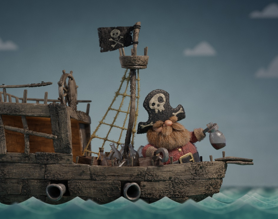 Drunk Pirateby Yan Blanco