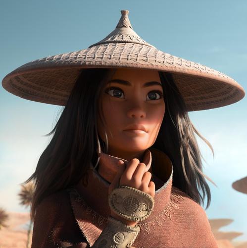 raya 3d model character design filipino model disney animation
