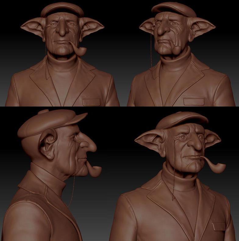 reworking in zbrush Darko Mitev harry potter character