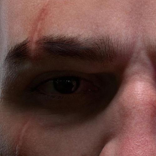 Cyberpunk 2077 male 3d fanart realistic eye