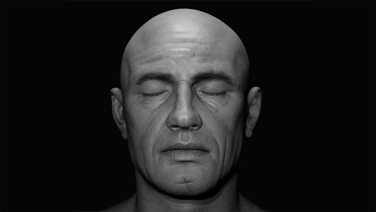 male head 3d figure