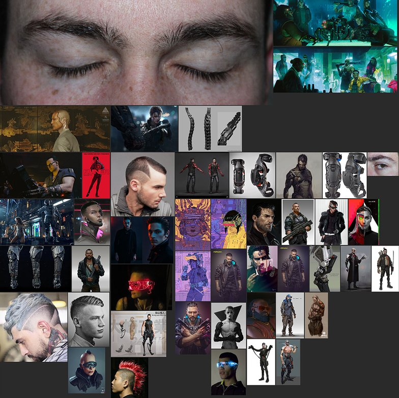 Cyberpunk 2077 3d male fanart references
