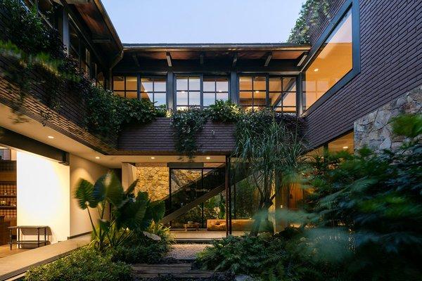 arch-viz, staircase, garden