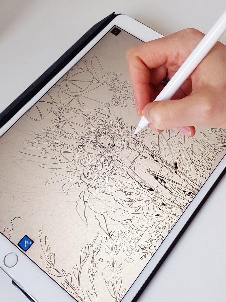 initial sketching on adobe
