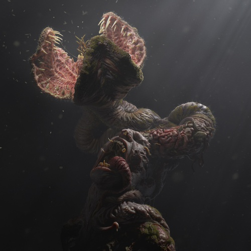 reincarnation 3d model realistic body horror