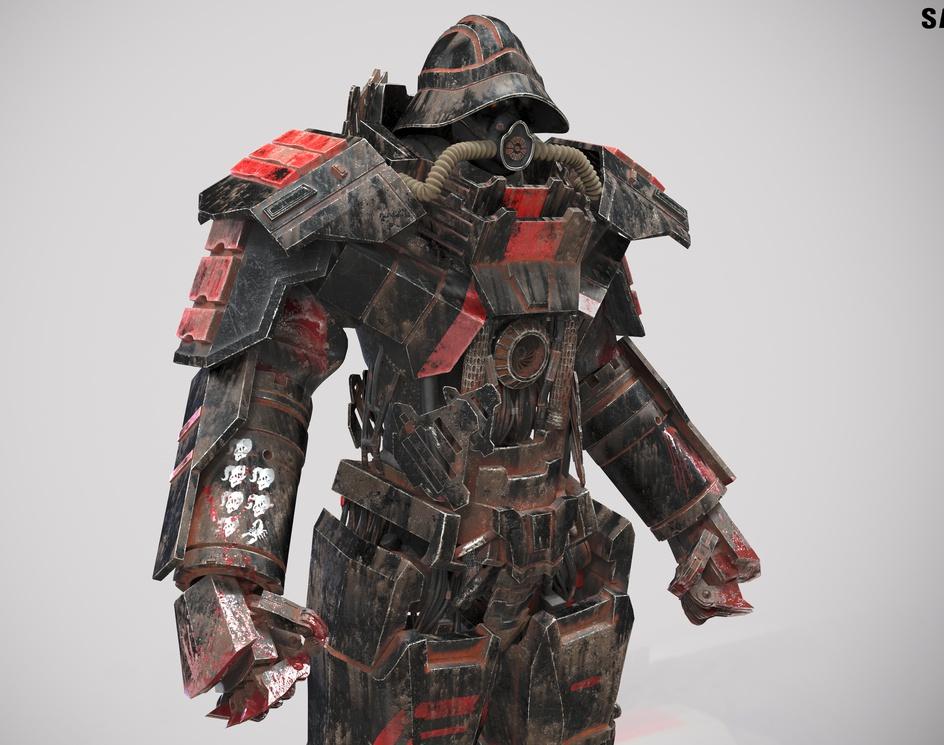 Fallout 4 Samurai Power Armorby Renan Leser