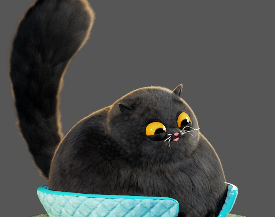 Cute Catby Milton Dias