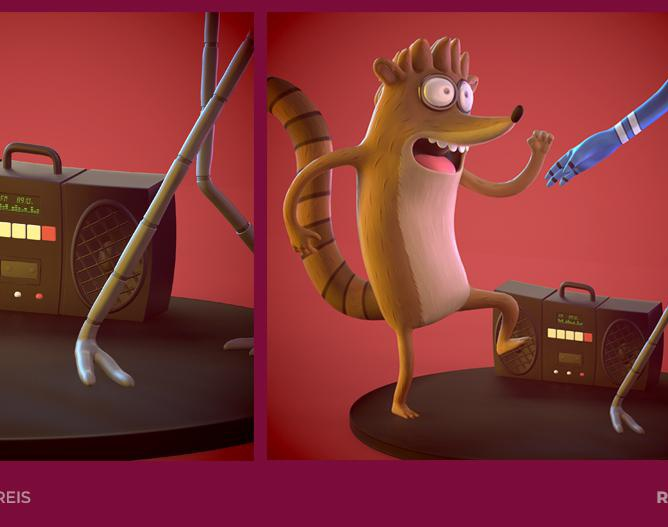Regular Show - Rigby and Mordecaiby Emmily