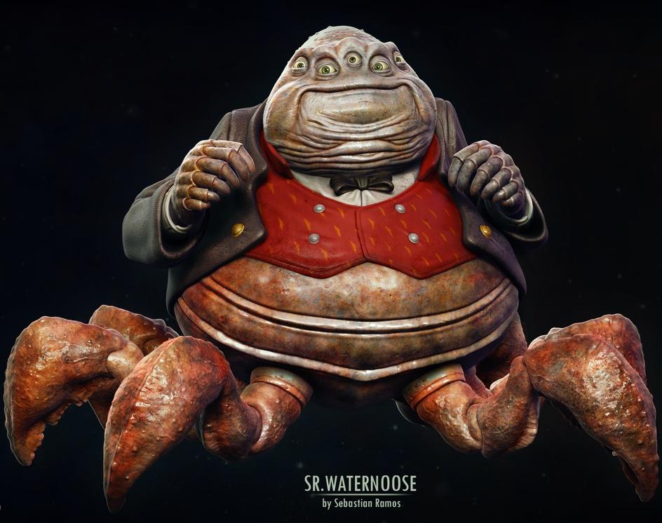 Mr.Waternoose - Fan Artby Sebastian Ramos