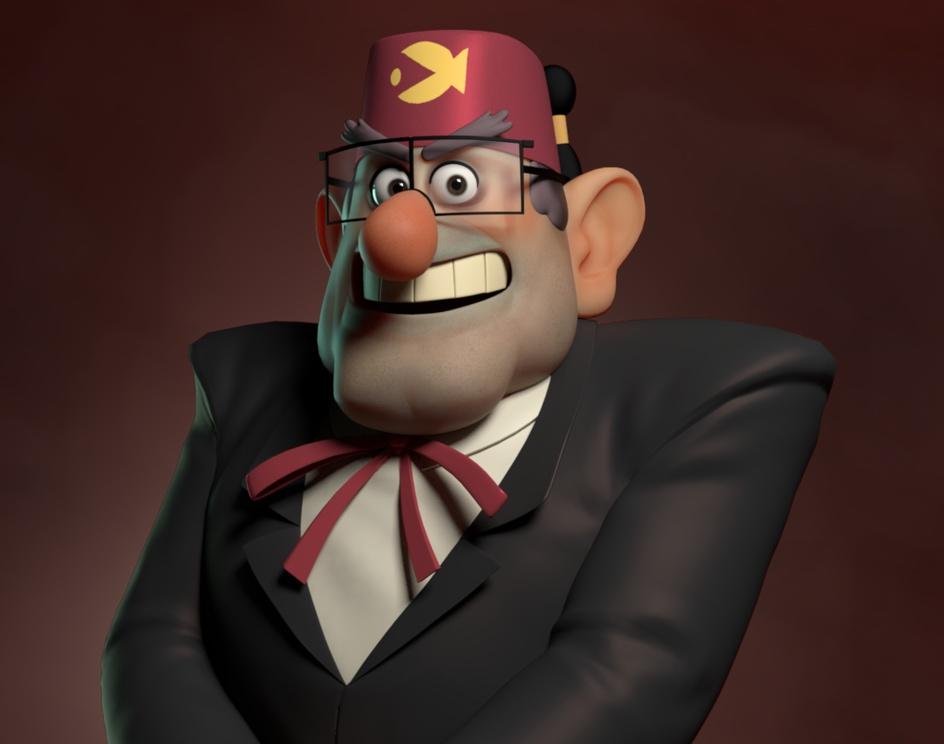 Gravity Falls Stan Fanartby sina piruzfar
