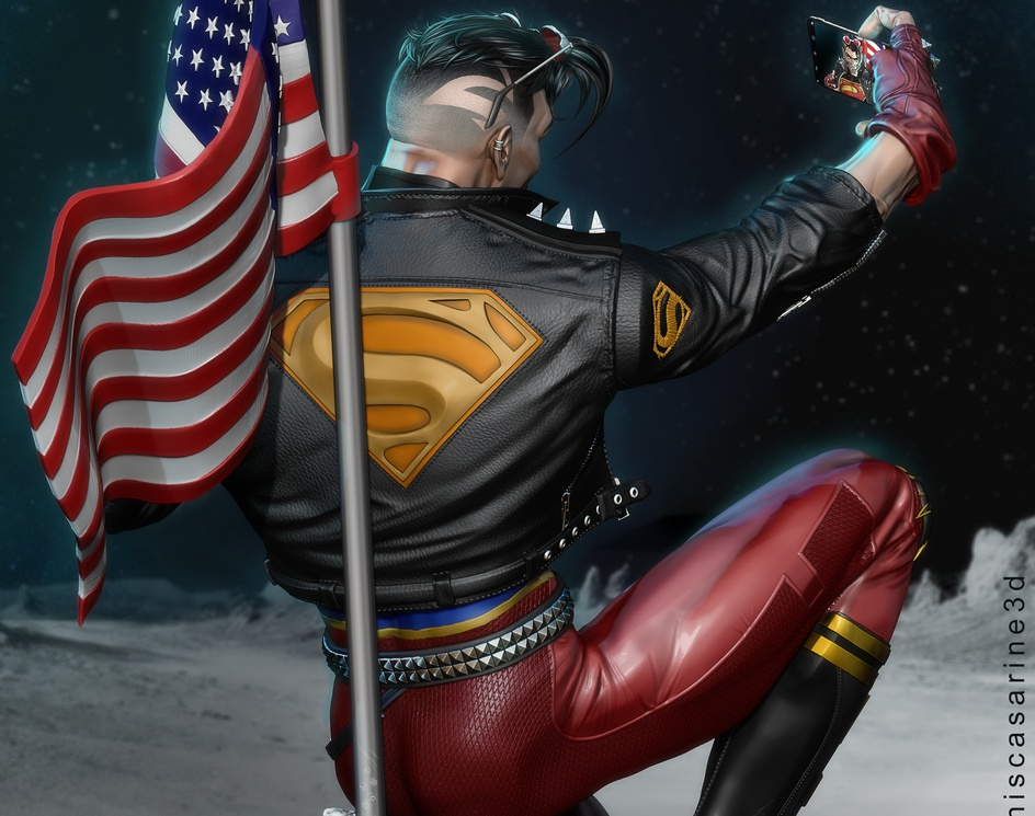 SuperBoy Self on the Moonby Dennis Casarine