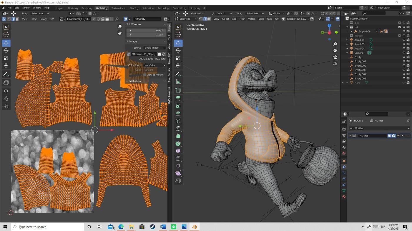 retopology uv 3d sculpting topology blender 3d modeling