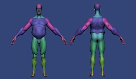 retopology 3d model simple maya body scale