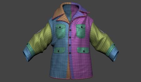 retopology 3d model simple maya jacket