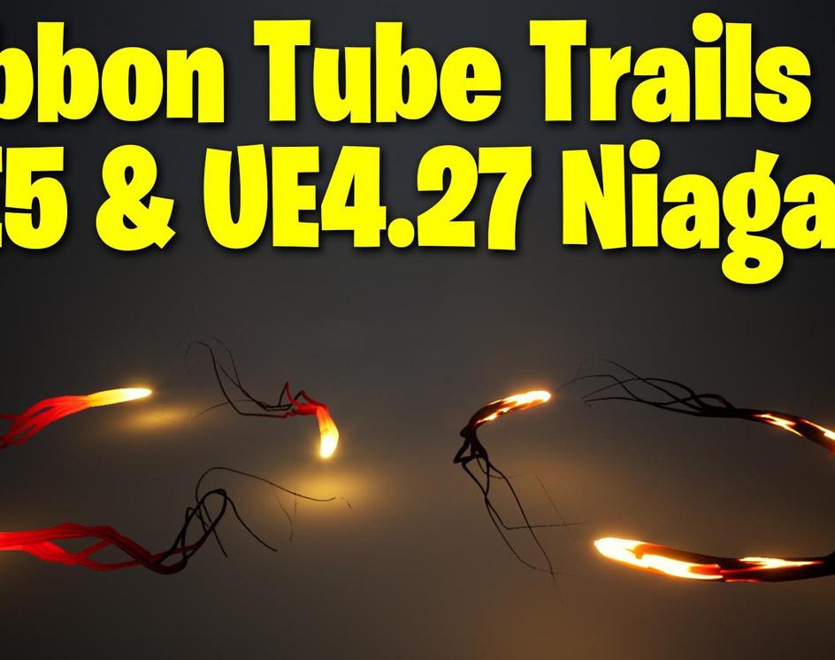 Ribbon Tube Trails in UE4.27 - UE5 Niagara Tutorial | Download Filesby Ashif Ali