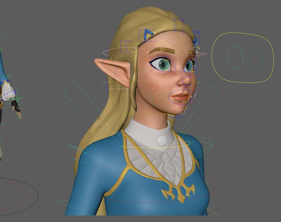 Zelda BOTW Fanartby Ernesto Ruiz Velasco