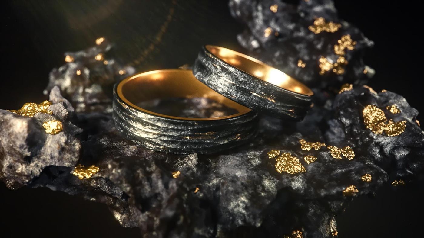 rock molten core liquids formations render model ring
