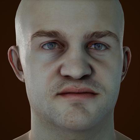 male basic portrait model darker lighting