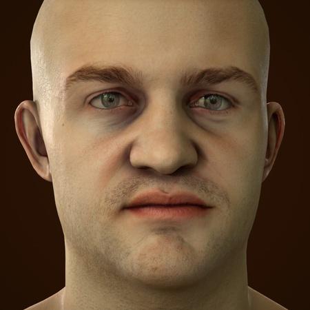 male basic portrait model
