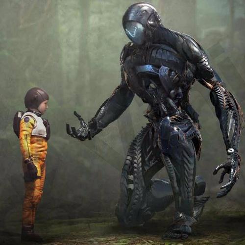 robot concept design alien extraterrestrial