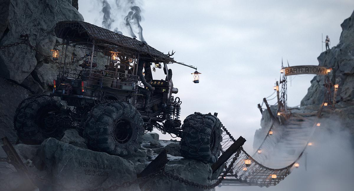 3d dark fantasy adventure scenery design