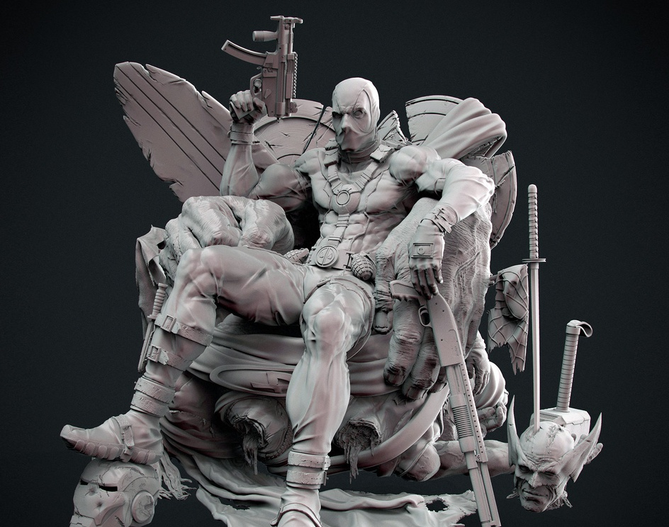 DEADPOOL (Kills the marvel Universe)by Romell Chopraa