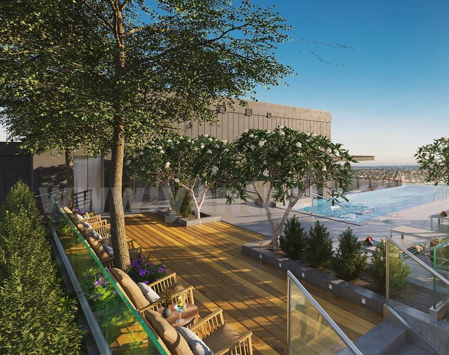 Rooftop Landscaping Pool view of Exterior Rendering Services by Architectural Rendering Companies, London - UKby Ruturaj Desai