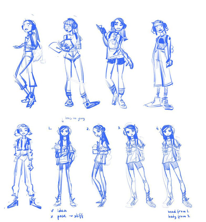 compelling girl character sketches