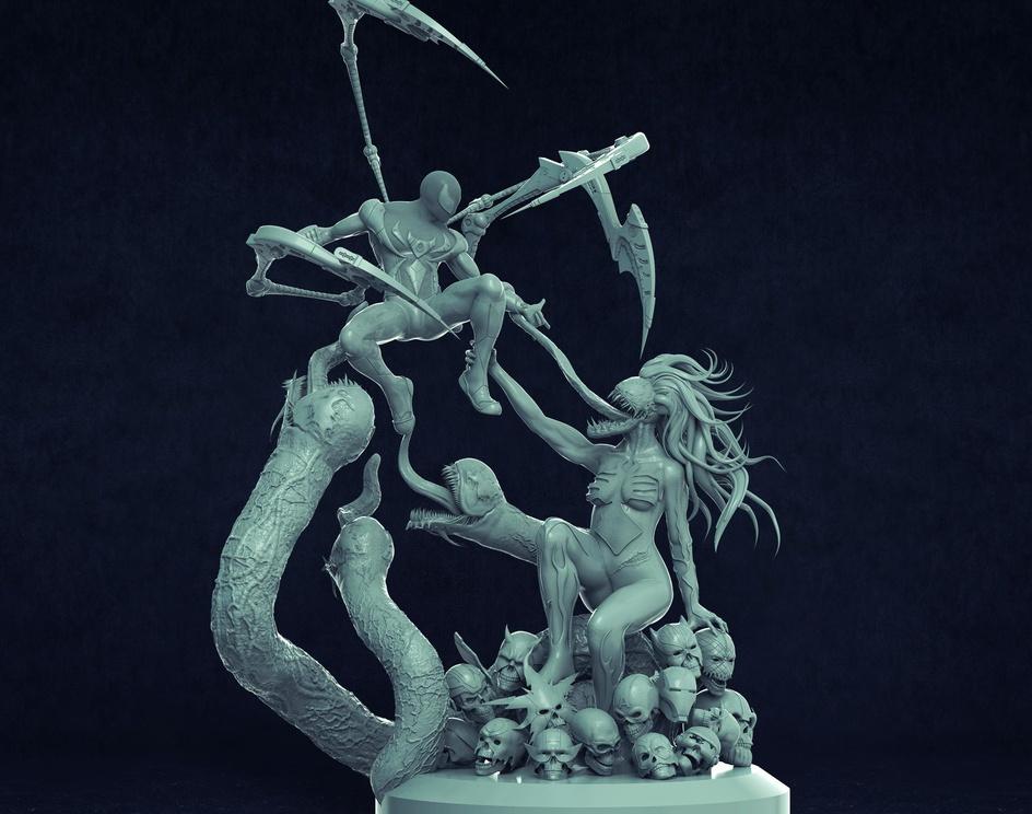 Venom Fanart Sculptureby Julio Cesar Benavides Macias