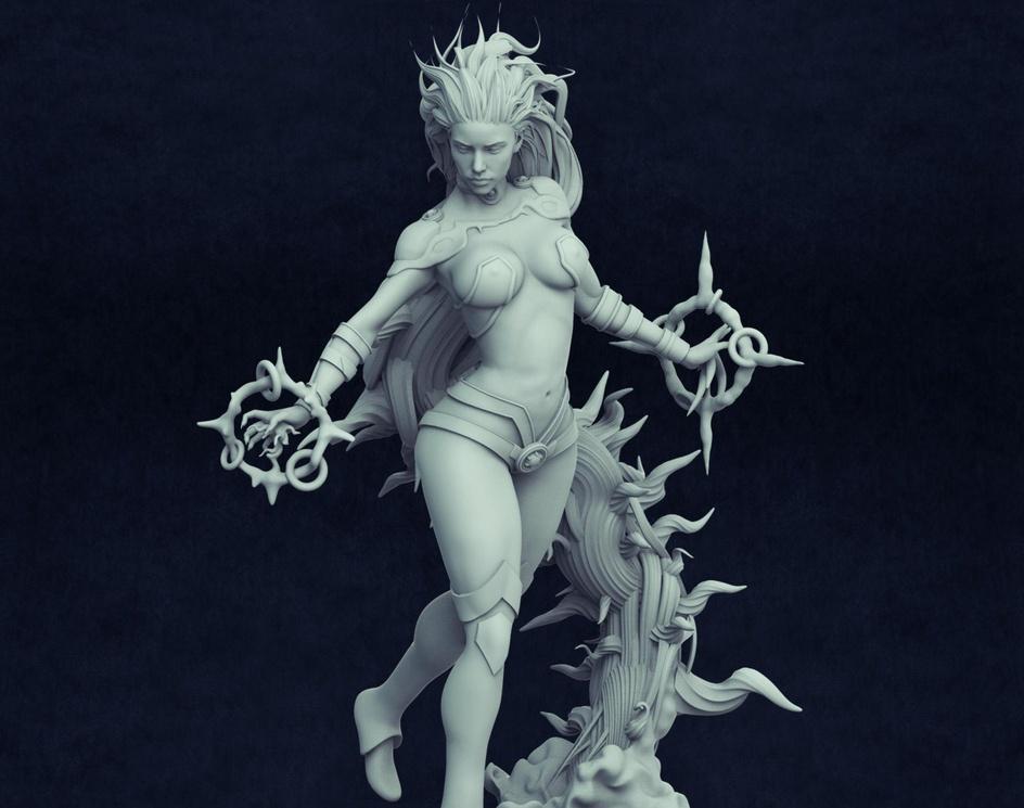 Starfire fanart sculptureby Julio Cesar Benavides Macias