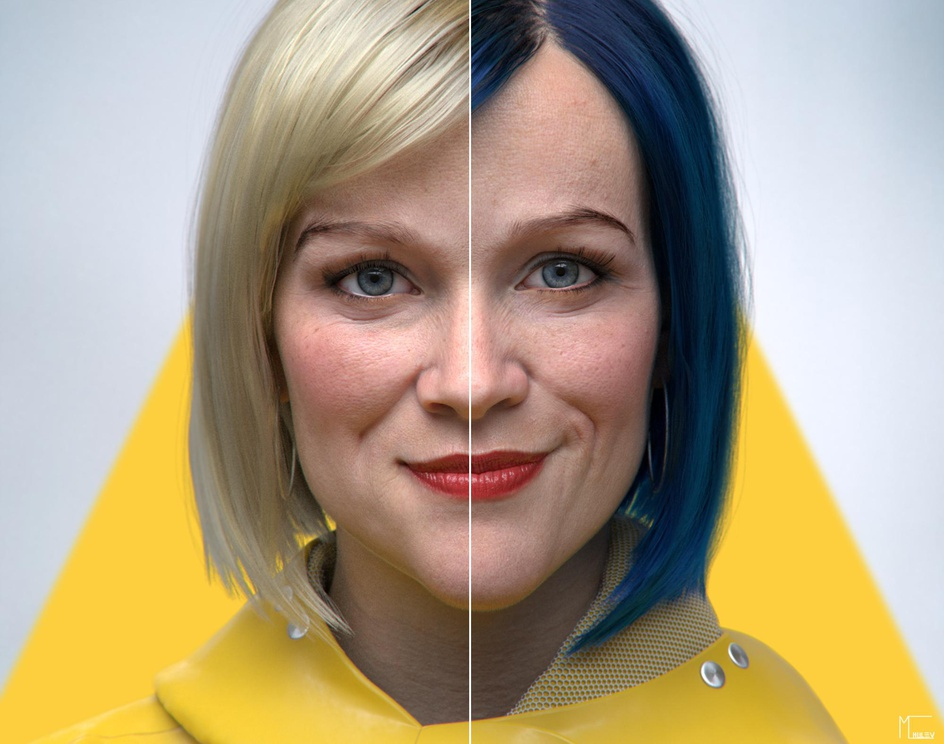 Coraline inspired 3D Portraitby Marko Chulev
