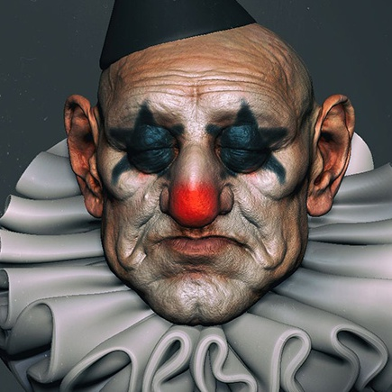 3d model skin texture clown