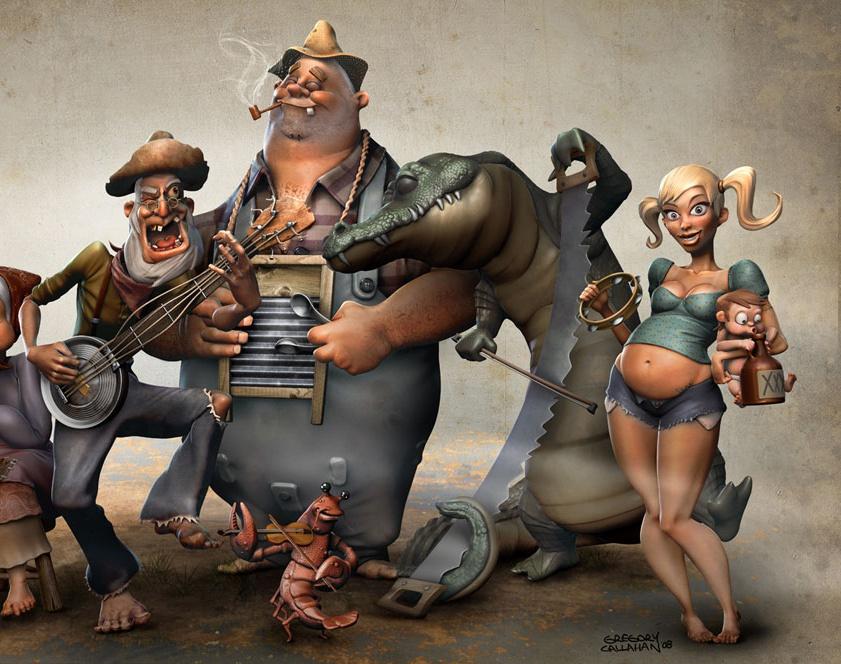 'Rajun Cajun Jug Band'by artofcallahan