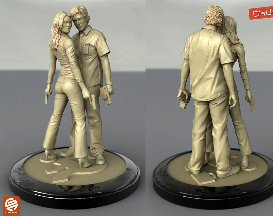 Chuck vs. The Sculptorby artofcallahan