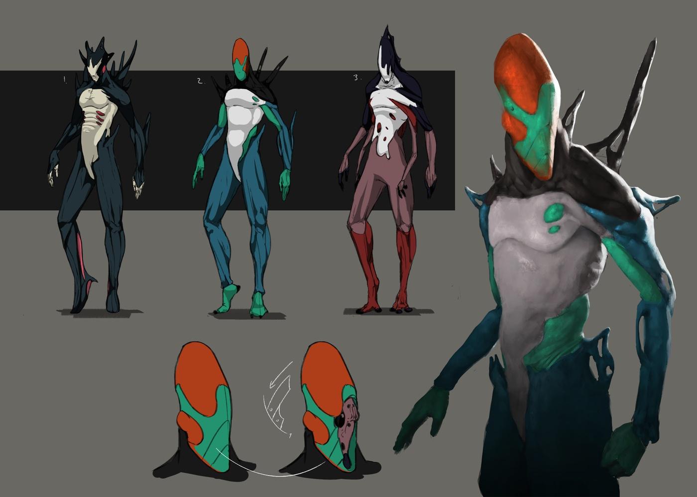 2d illustration digital digital art alien sci-fi concept design