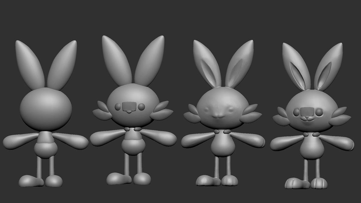 bunny 3d character model