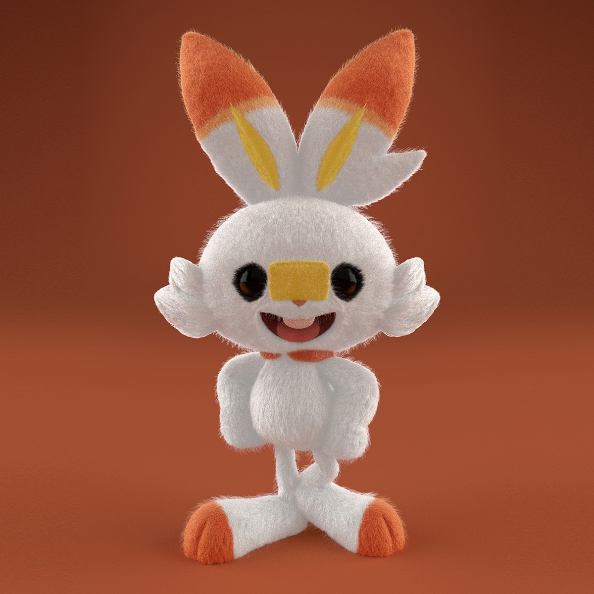 scorbunny pokemon bunny character design
