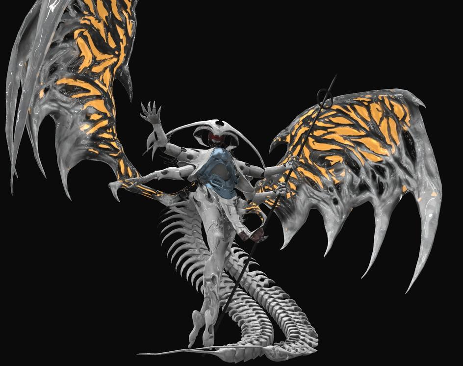 Atraxa, Praetors' Voice - Fanart - Magic the gatheringby Felipe Bomfim