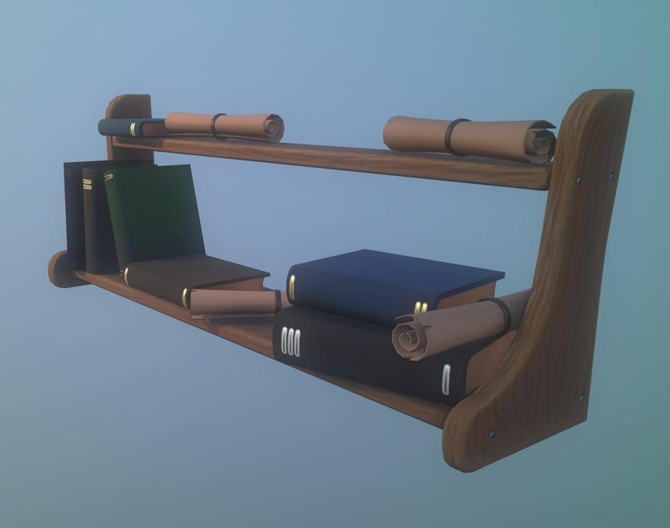 Stylized bookshelfby Abnormal 3D