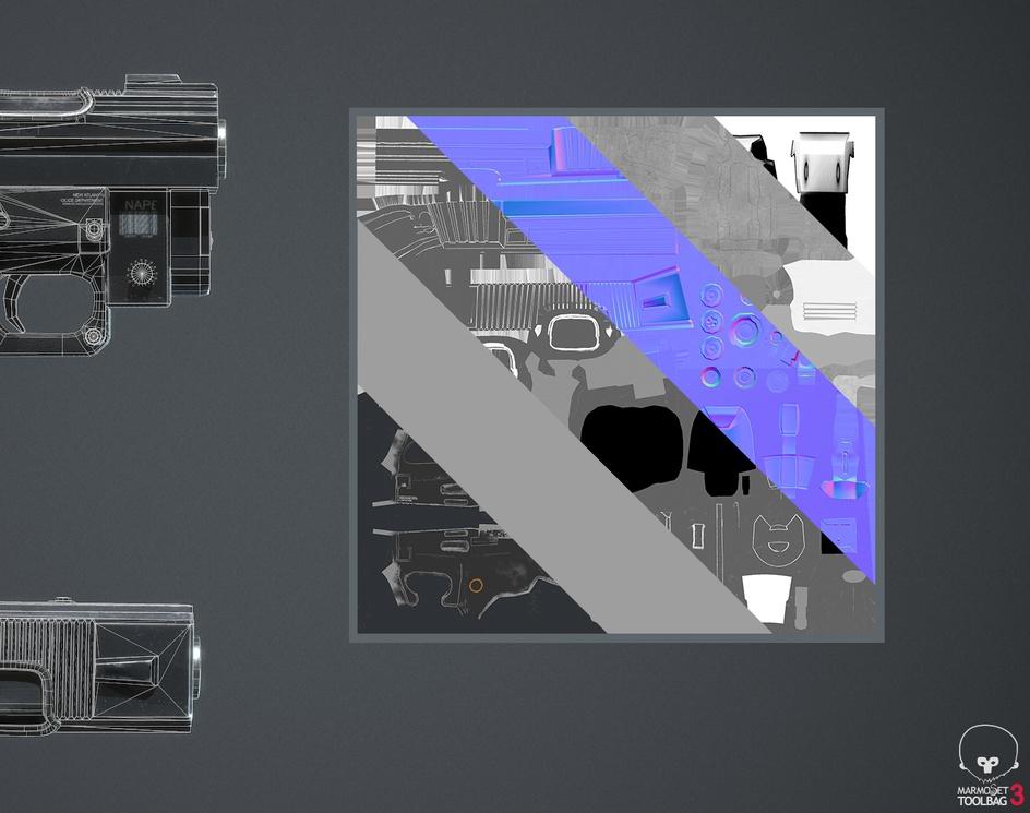 NAPD Subnose Handgun videogame 3Dmodelby Ander Sanchez