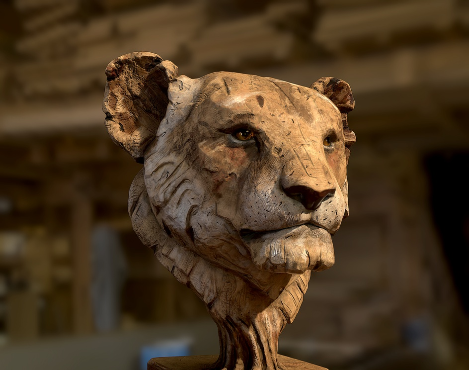 wooden lionby satyam khare