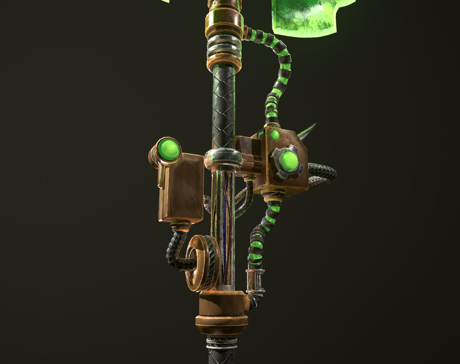 "Sufferer Shattering Axe - A ""Warhammer 40.000 : Mechanicus Heretek"" fan artby paolo crimaldi"