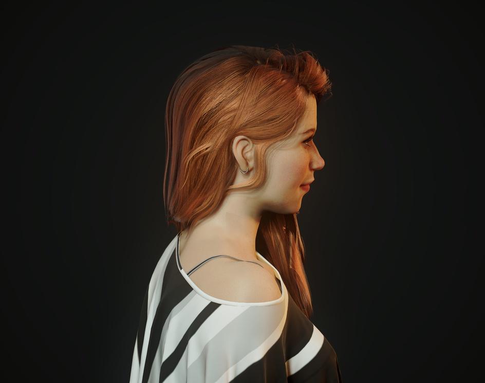 Girl Portrait (real time)by David Zavala