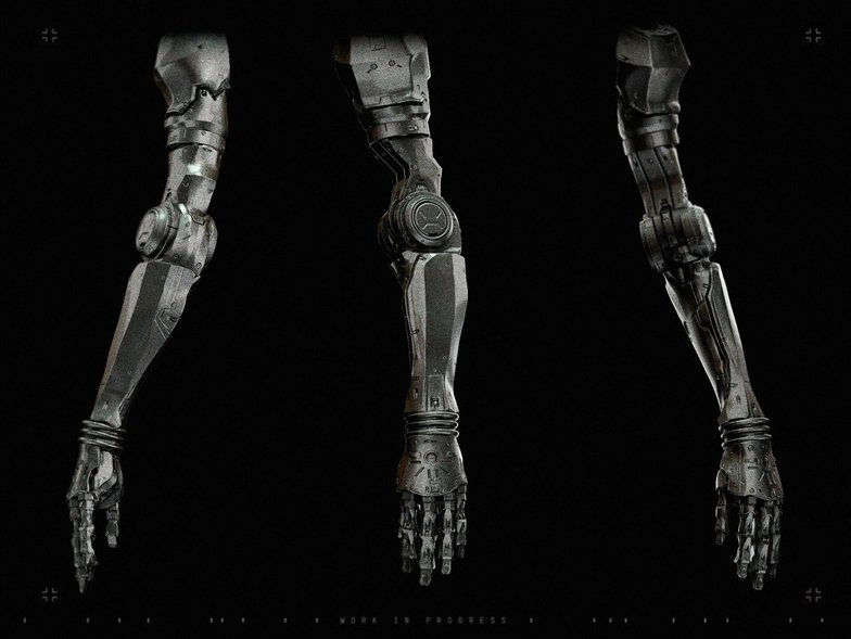 metallic arm 3d model